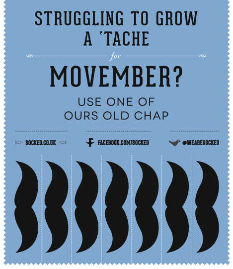 socked movemeber poster help tache